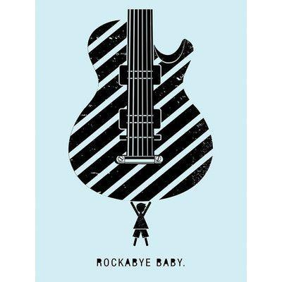 "Oopsy Daisy Rockabye Baby Canvas Art Size: 24"" H x 18"" W x 1.5"" D"
