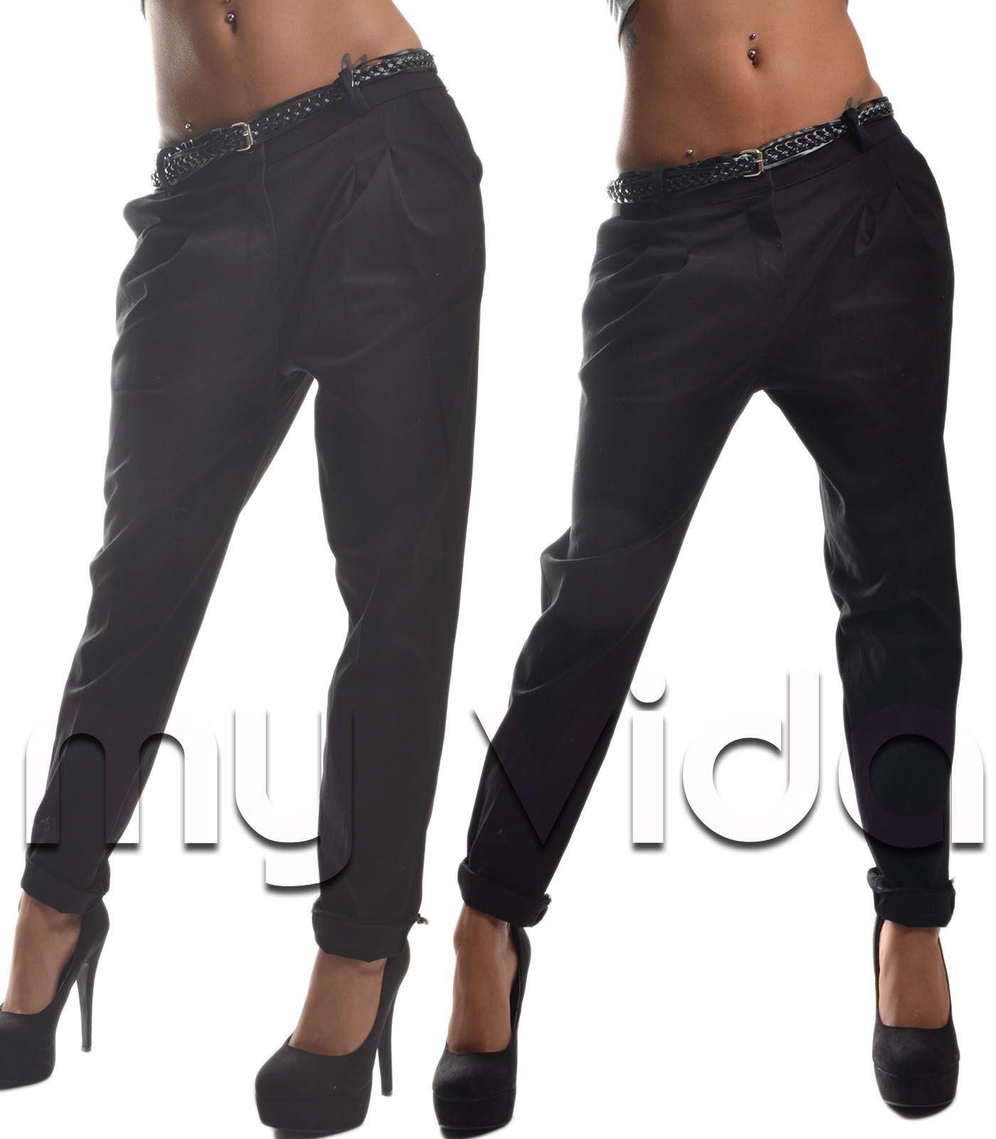 f7fc407913 Pantalone donna cavallo basso tasche pence pantaloni nuovi casual ...