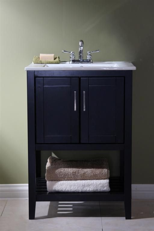 24 Inch Single Sink Bathroom Vanity In Espresso