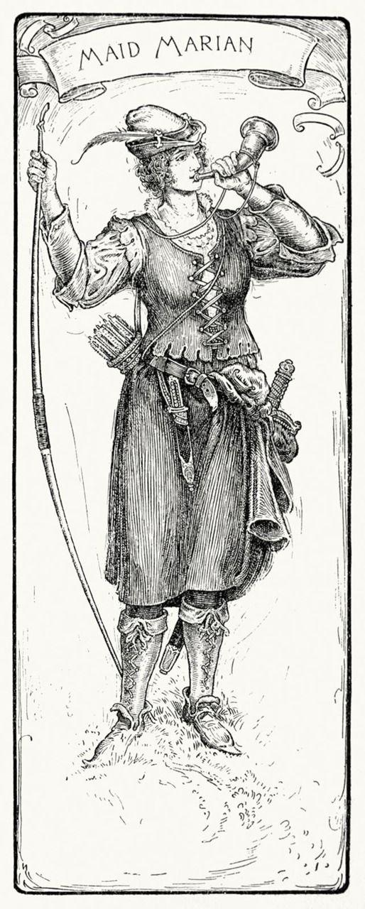 Maid Marian. Louis Rhead, from Bold Robin Hood and his