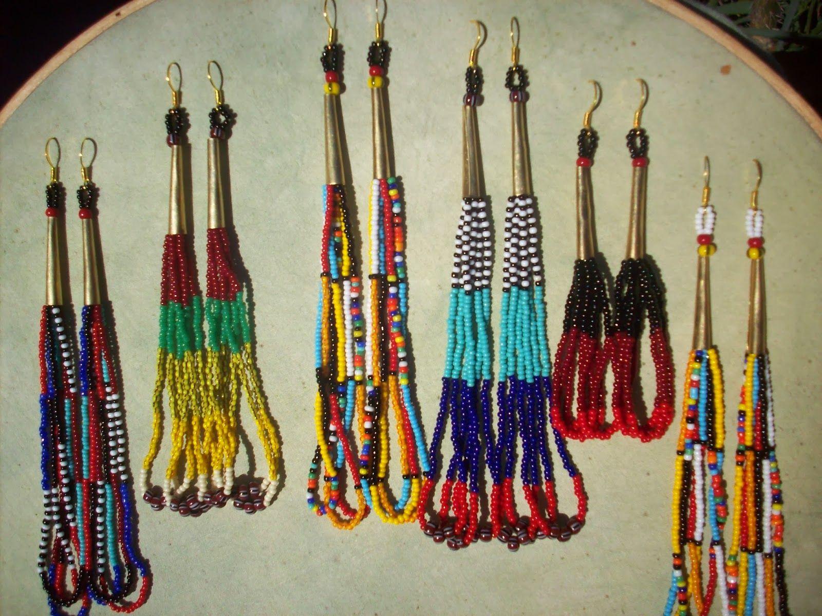 African Maasai Masai Handmade Beaded Earrings Tutorial