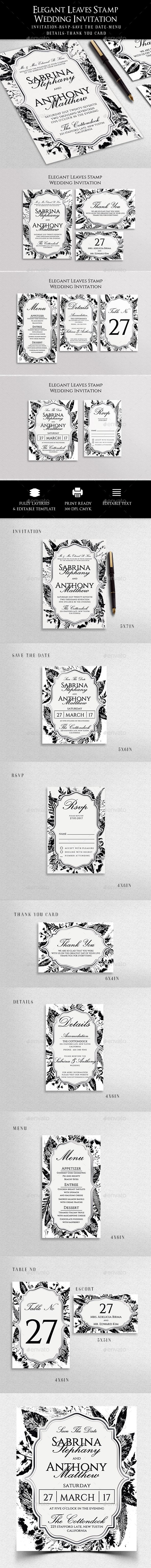 Wedding Invitation | Template, Fonts and Font logo