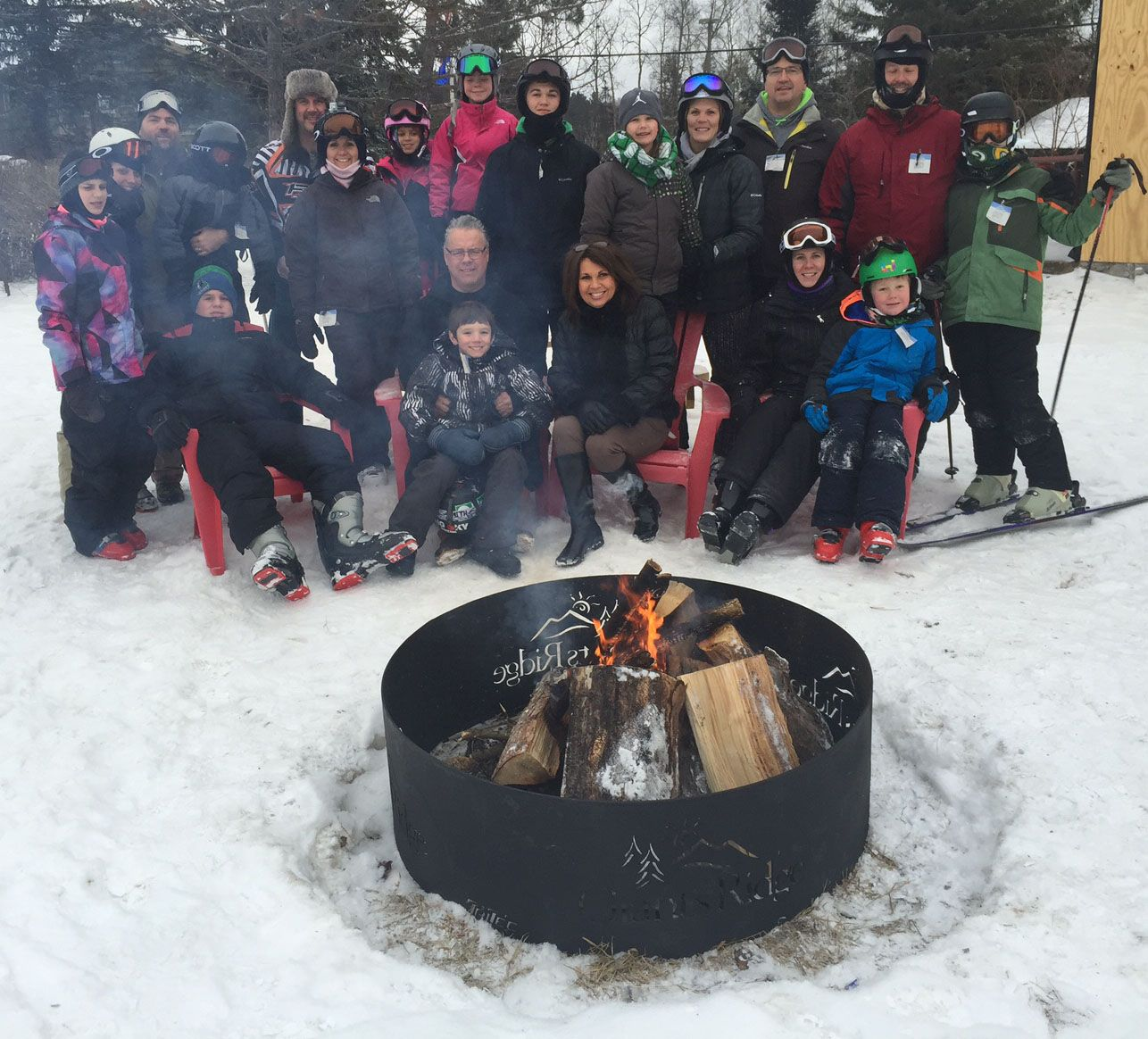 The fire pit near the Ice Bar at GiantsRidge! Ice Bar