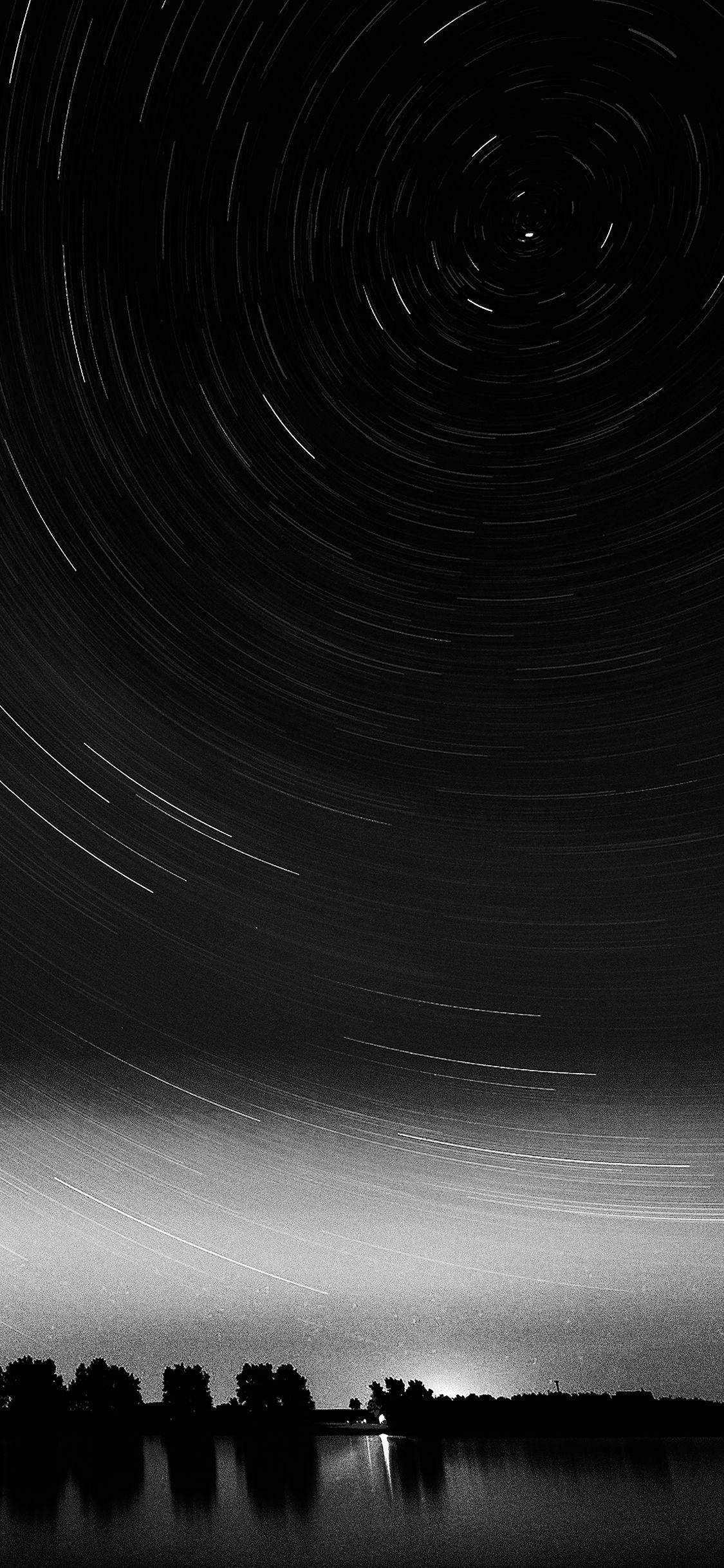 Iphonexpapers Com Apple Iphone Wallpaper Me31 Star Gazing Night Bw