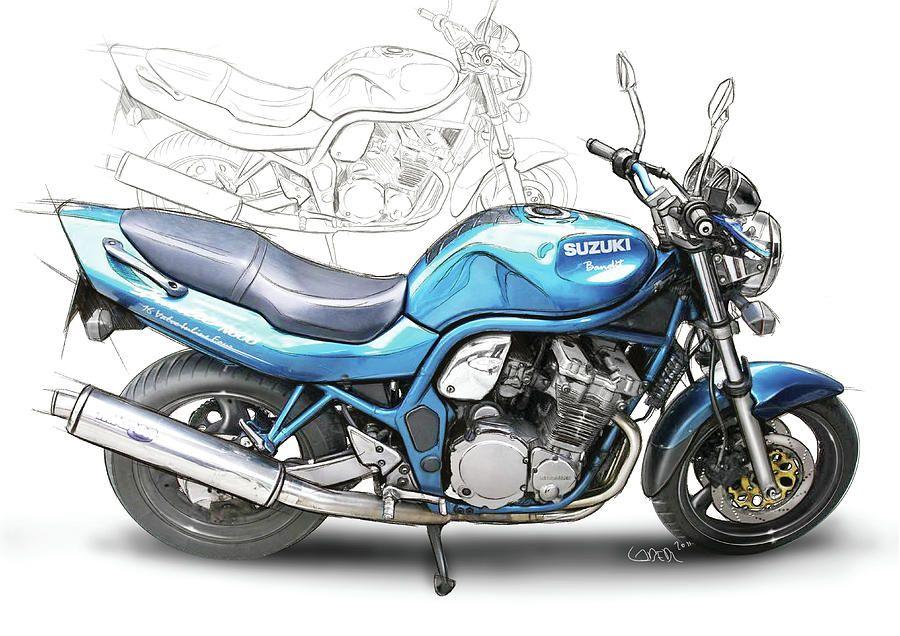 Suzuki Bandit 600 Motos Desenho Moto Carros Clássicos Ford