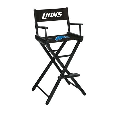 Detroit Lions Bar Height Directors Chair From Mancavegiant