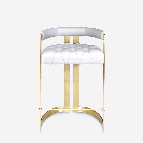 Winfrey Mid Century Modern Bar Chair By Ottiu Beyond Upholstery Bar Chairs Mid Century Modern Bar Contemporary Bar Chair