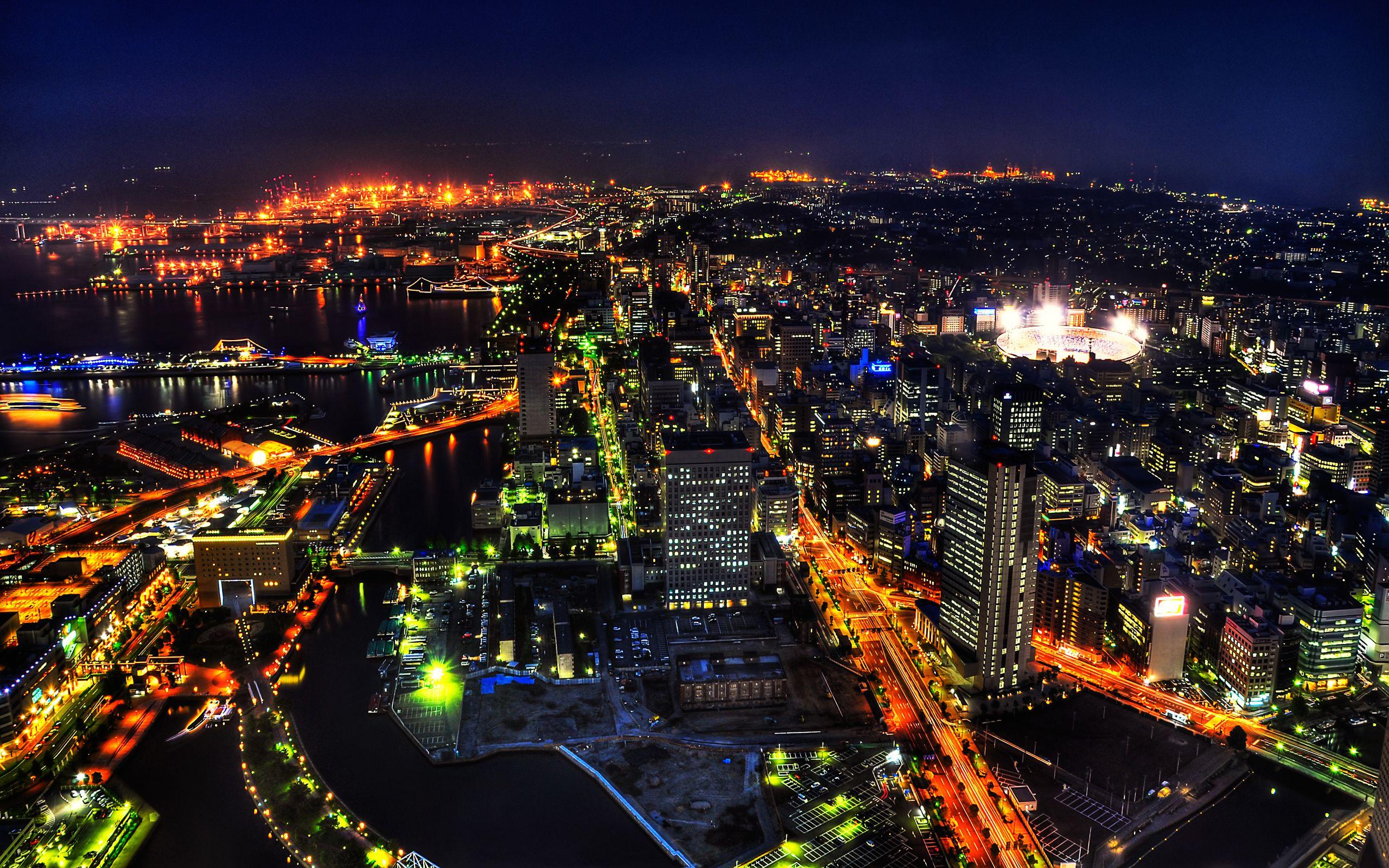 japan Shibuya, Tokyo, Japan, Night, City Desktop