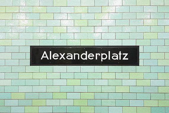 Alexanderplatz Berlin Photography Art Metro U Bahn Subway Germany Berlin Picture Fine Art Modern Urban Print Polaroid Wall Decor U Bahn U Bahn Station S Bahn