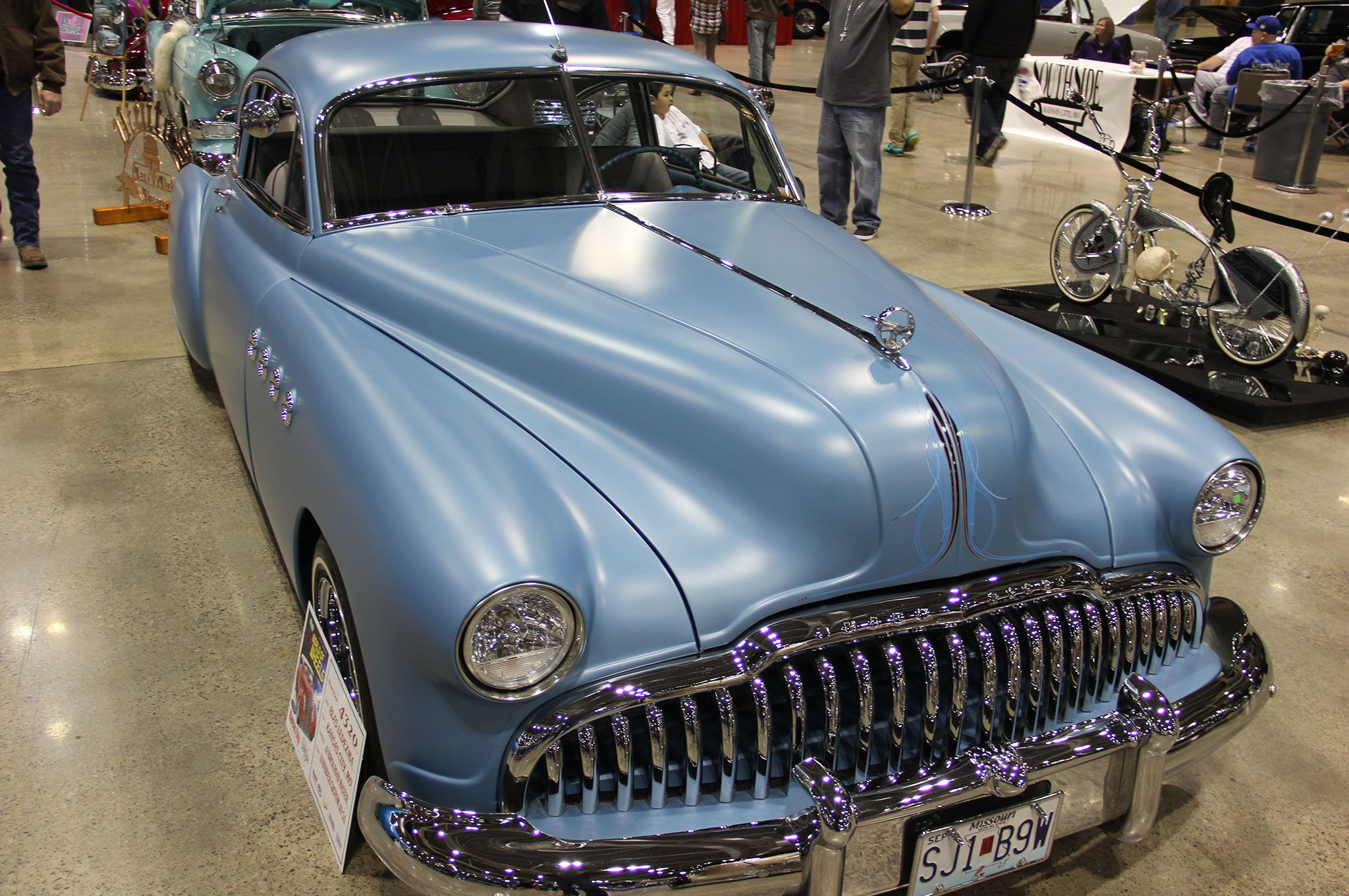 2016 kansas city autorama blue matte 1949 buick road master front ...
