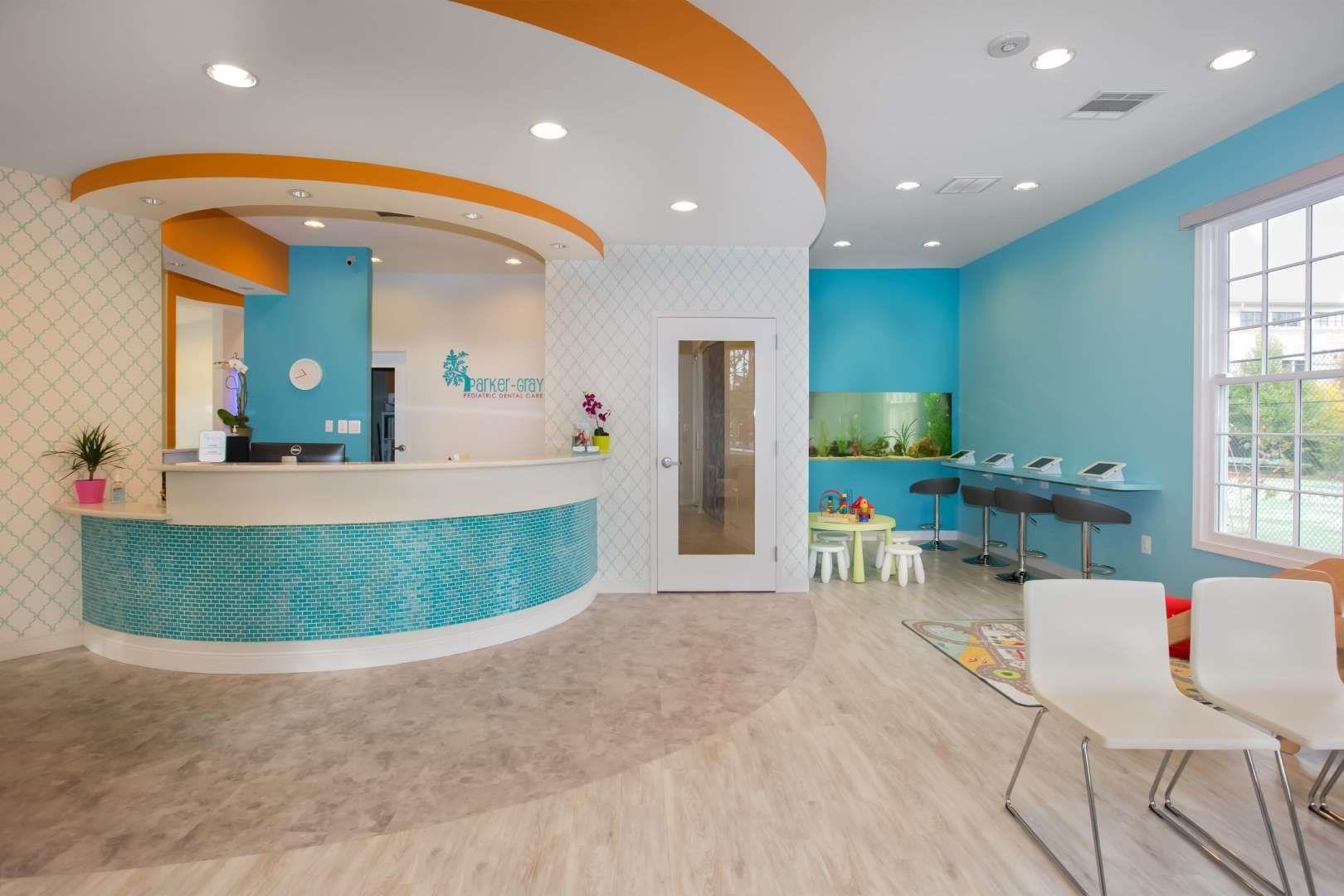 Parker-Gray Pediatric Dental Care Reception Area Design #dentalcare