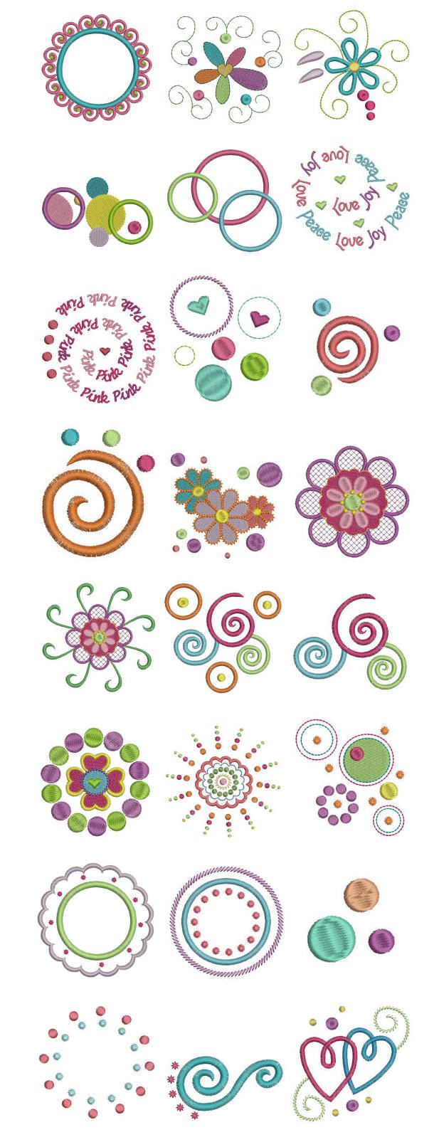Embroidery   Free machine embroidery designs   Dots and Doodles ...