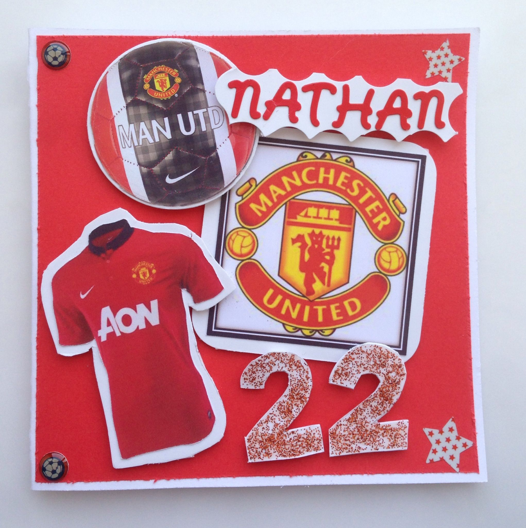 Manchester United Birthday Card Birthday Cards For Men Birthday Cards Male Cards