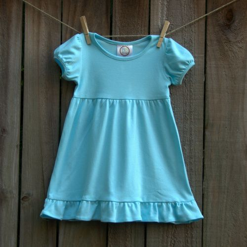 e723f56bdb3c Blank Short Sleeve Empire Waist Ruffle Dress