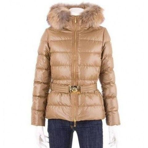 Moncler Women Angers Belted Quilt Jacket Gold BJ130434