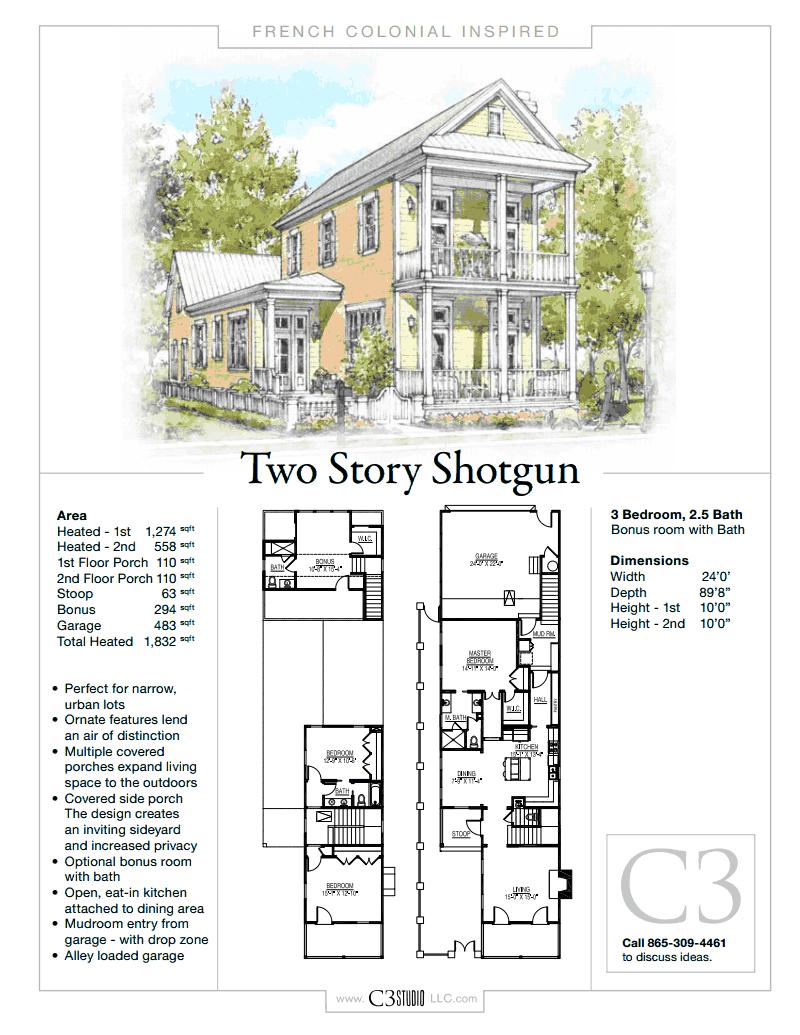 Shotgun House Design: 2 Story Shotgun House By C3 Studio LLC