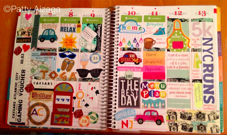 """""""Last week I used it a a vacation memory journal with pictures and very few words."""" -Patty A. #eclifeplanner14"""