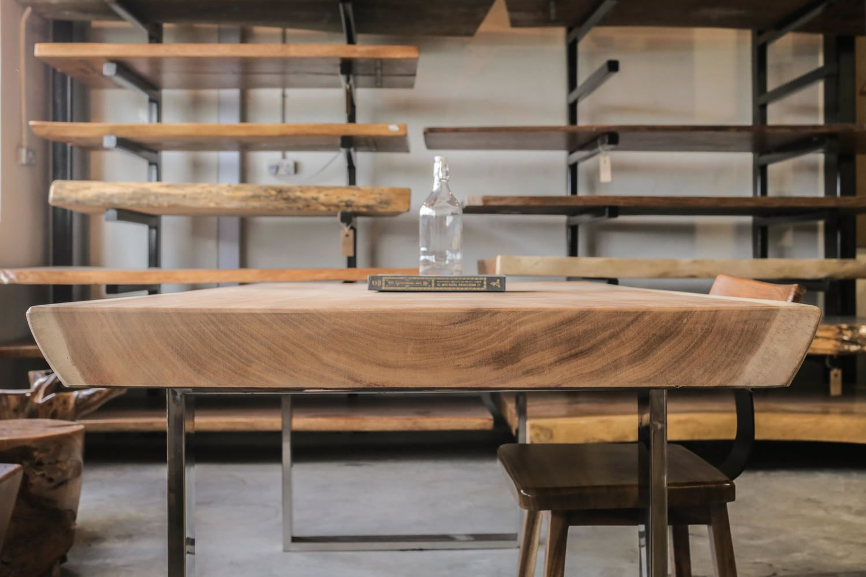 Suar Wood Table End Grain X Herman Furniture Singapore In