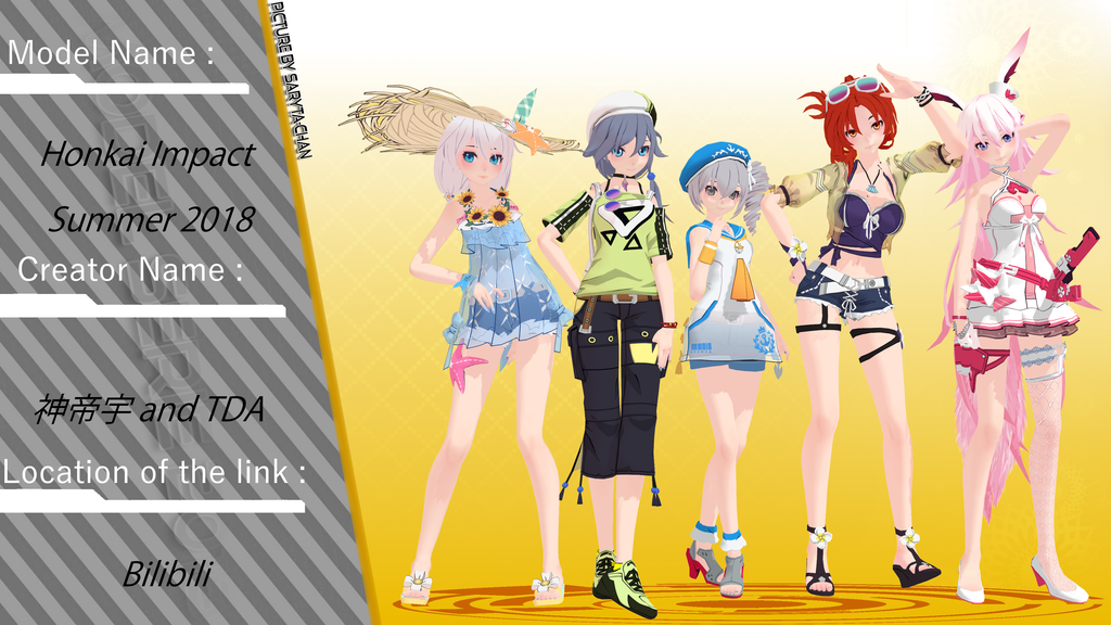 here is the model honkai impact summer 2018 this model is for the