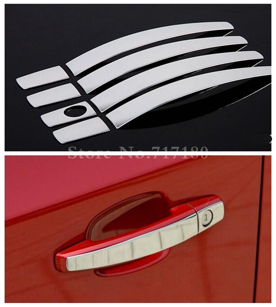 High Quality! Stainless Steel Door Handle Cover Trim Car