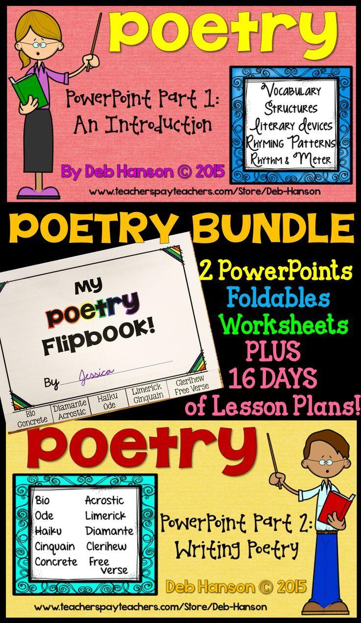 Workbooks rhyming patterns worksheets : Poetry Bundle | Students and Poetry unit
