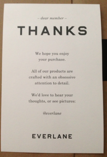 everlane thank you Google Search Thank you card design
