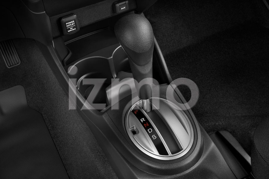 Gear Shift View of Silver 2009 Honda Fit Sport Hatchback