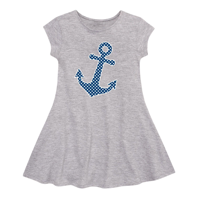 Polka Dot Navy Toddler Fit & Flare Cap Sleeve Dress