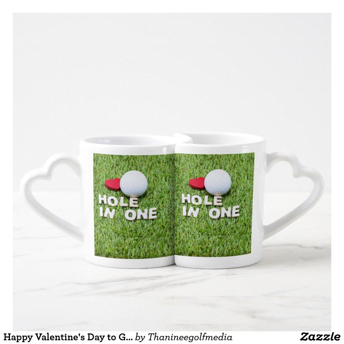 Happy Valentine S Day To Golfer Coffee Mug Set Zazzle Com Happy Valentines Day Cute Valentines Day Ideas Happy Valentine