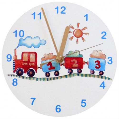 Tiger Lily Personalised Wall Clock Train Clock Baby Accessories Lily