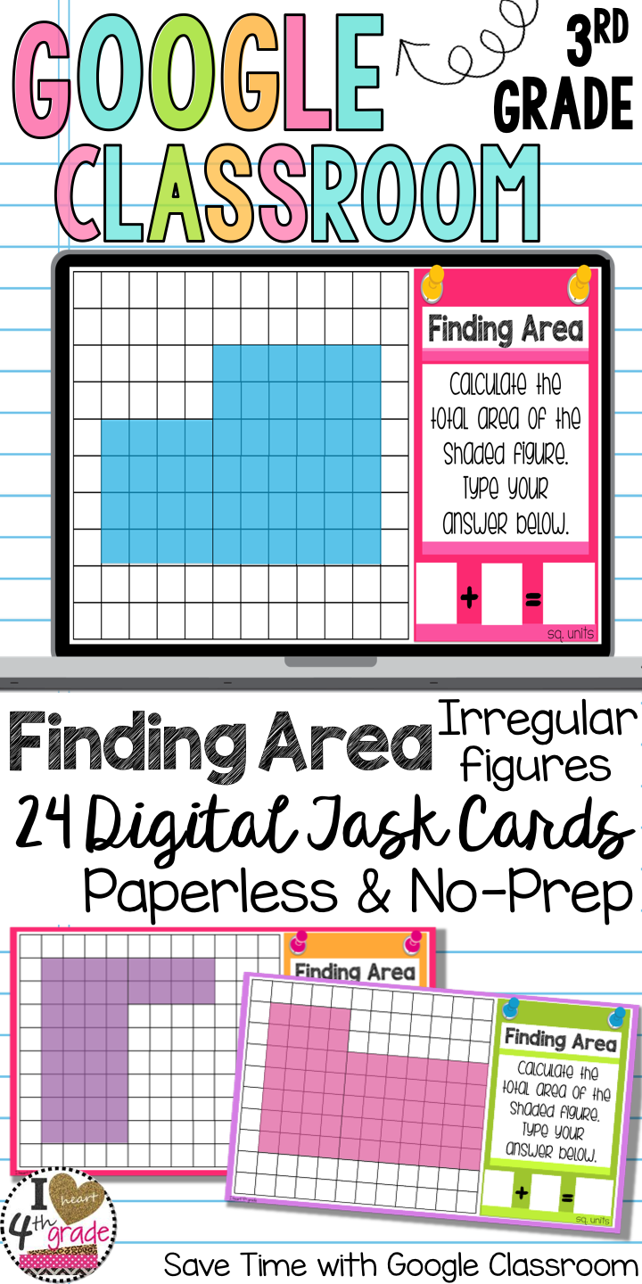 Google Classroom Area of Irregular Figures using Square Units | My ...
