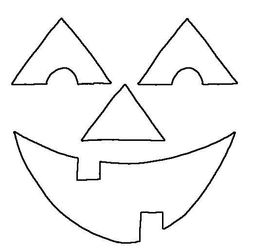 Happy Pumpkin Face Coloring Page: Free Happy Pumpkin Face Template ...