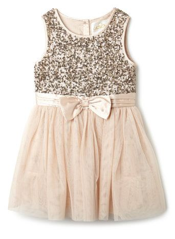 Younger Girls Light Pink Sequin Tutu Dress