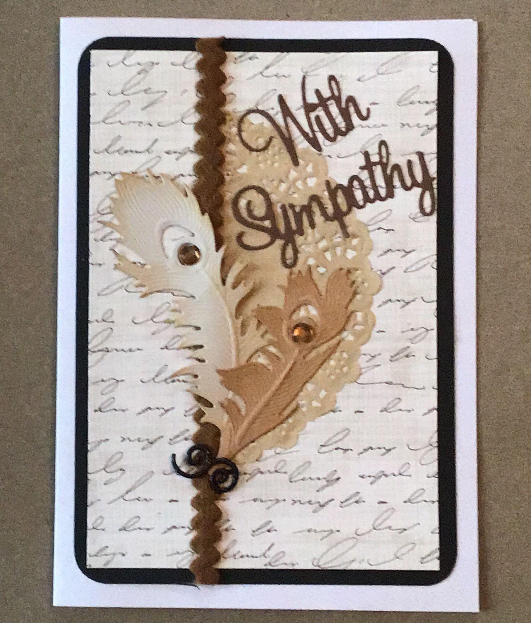 Handmade diy sympathy card handmadecard ideer kort