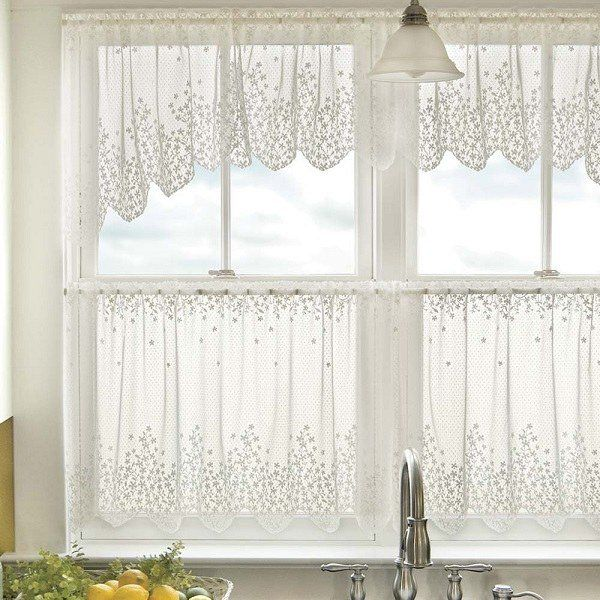 Minimalist White Curtains Window For Kitchen #tier #curtains #living #room