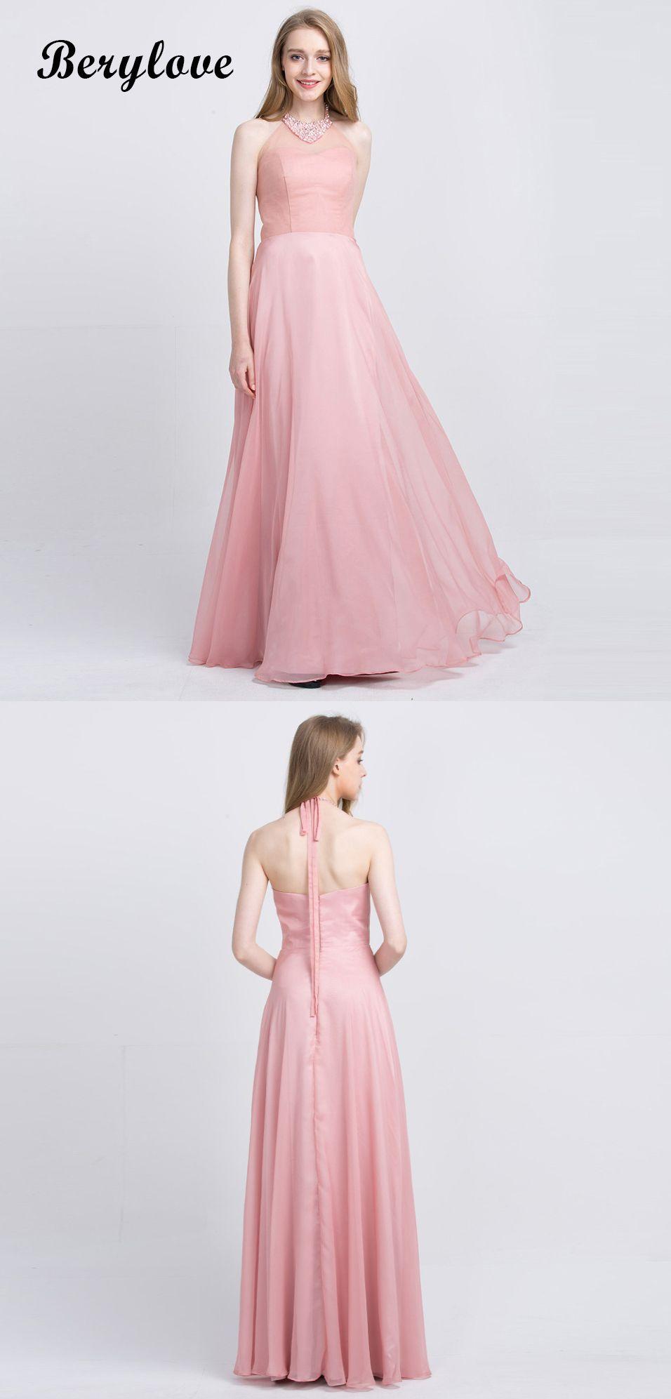 Beaded Halter Blush Pink Tulle Evening Dresses 2018 Halter promdresses  prom2018 eveningdresses promgowns eveninggowns formaldresses halterpromdresses   ... f4f5ff12370c