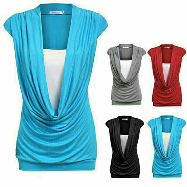 Saya menjual Dress Cowl Gathered Neck Contrast Insert Stretch Long Tops Tank Top -TWFF6AEA seharga Rp207.000. Dapatkan produk ini hanya di Shopee! https://shopee.co.id/deventostore/13070637 #ShopeeID
