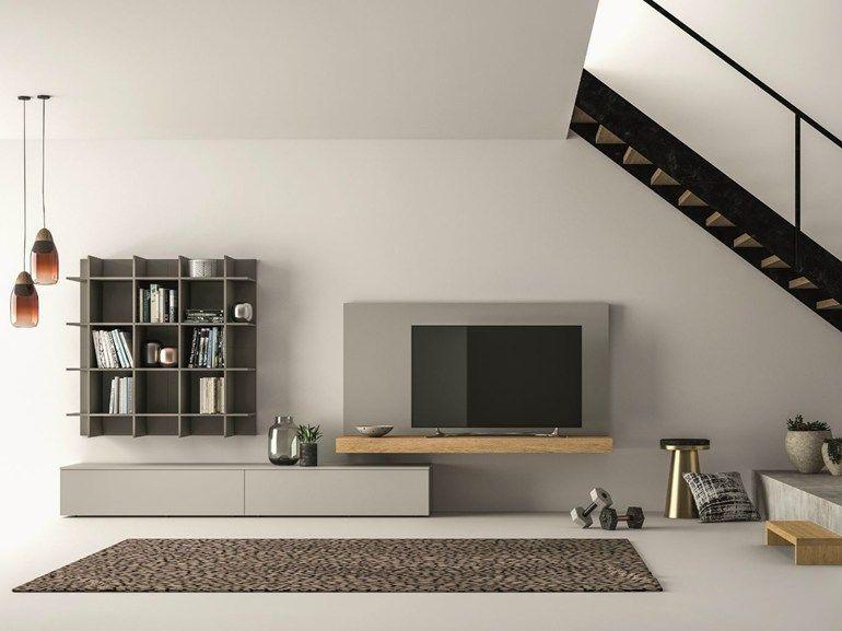 SLIM 111 Mueble modular de pared composable by Dallu0027Agnese Muebles - muebles de pared