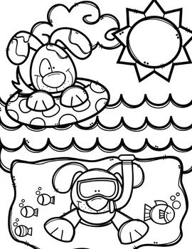 Summer Coloring Pages (+ writing papers) {Made by Creative