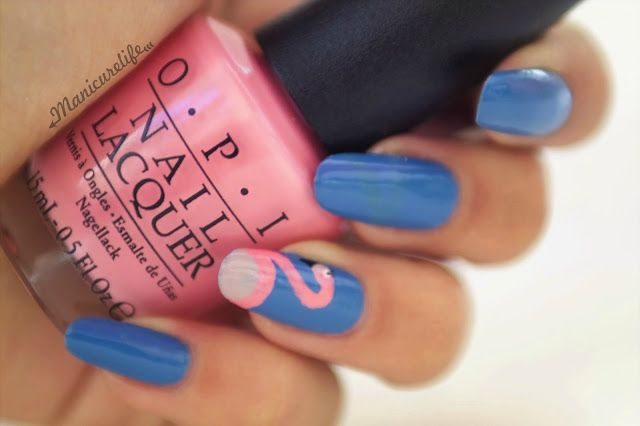 Manicurelife: Flamingo Nails http://bit.ly/2aFjBQQ New manicure post♥ #nails #nailart #nail #manicures #manicure #naildesign #art #design #blog #flamingo #blue #pink #animals #summer