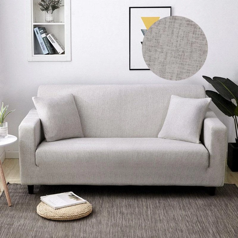 Henry Solid Grey Sofa Cover In 2020