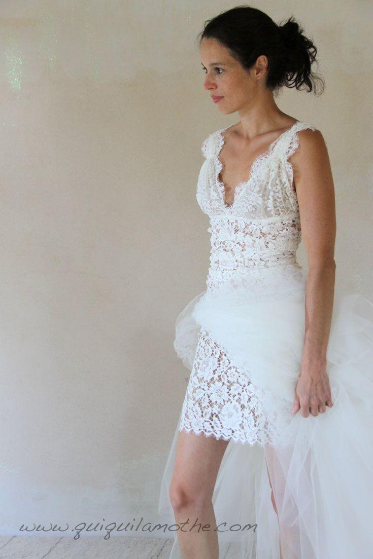Robe de mariée transformable simple jupe