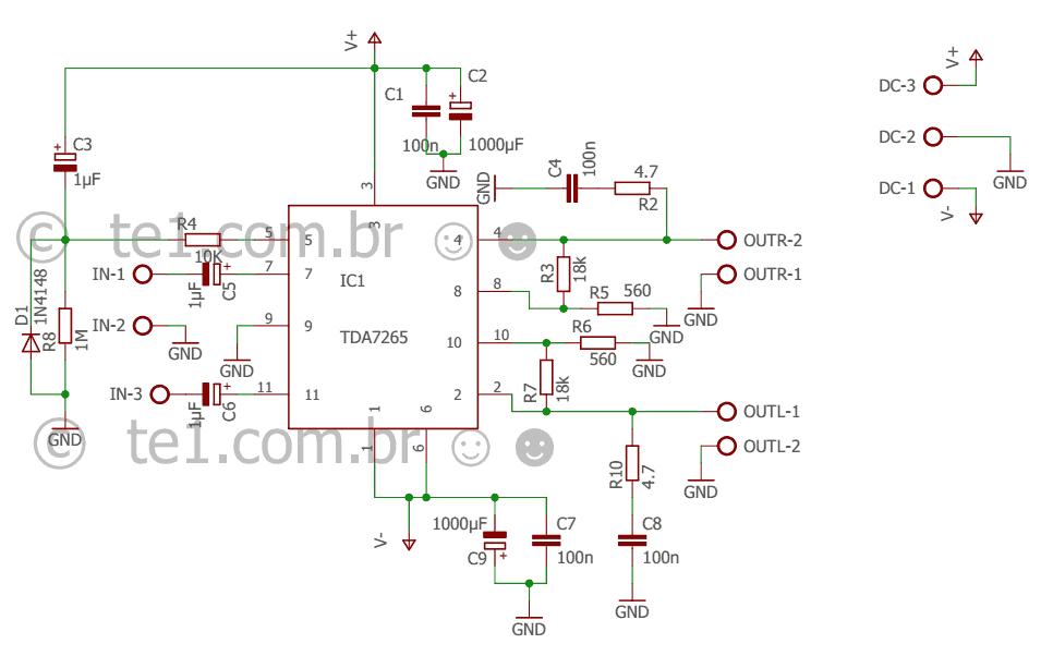 Pin by Eswa on tda7265 | Hifi amplifier, Audio amplifier ...