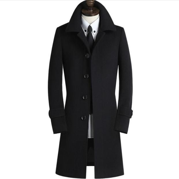Jackets & Coats 2019 Spring New Mens Woolen Jackets Trench Coat Men Mandarin Collars Windbreaker Spring Woolen Overcoat Homme Full Size M-3xl The Latest Fashion Back To Search Resultsmen's Clothing