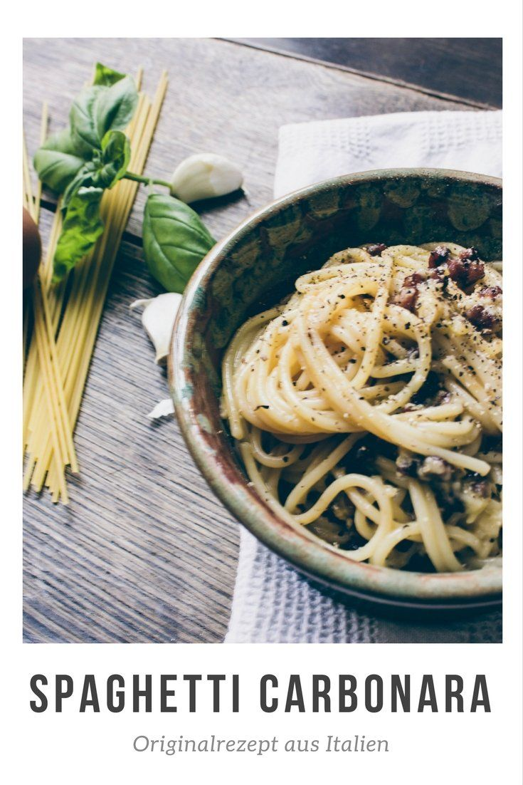 spaghetti carbonara das originalrezept aus italien. Black Bedroom Furniture Sets. Home Design Ideas