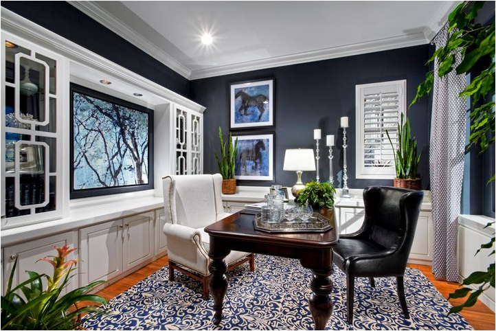 navy blue and white kitchen navy walls with the on blue office color id=84752
