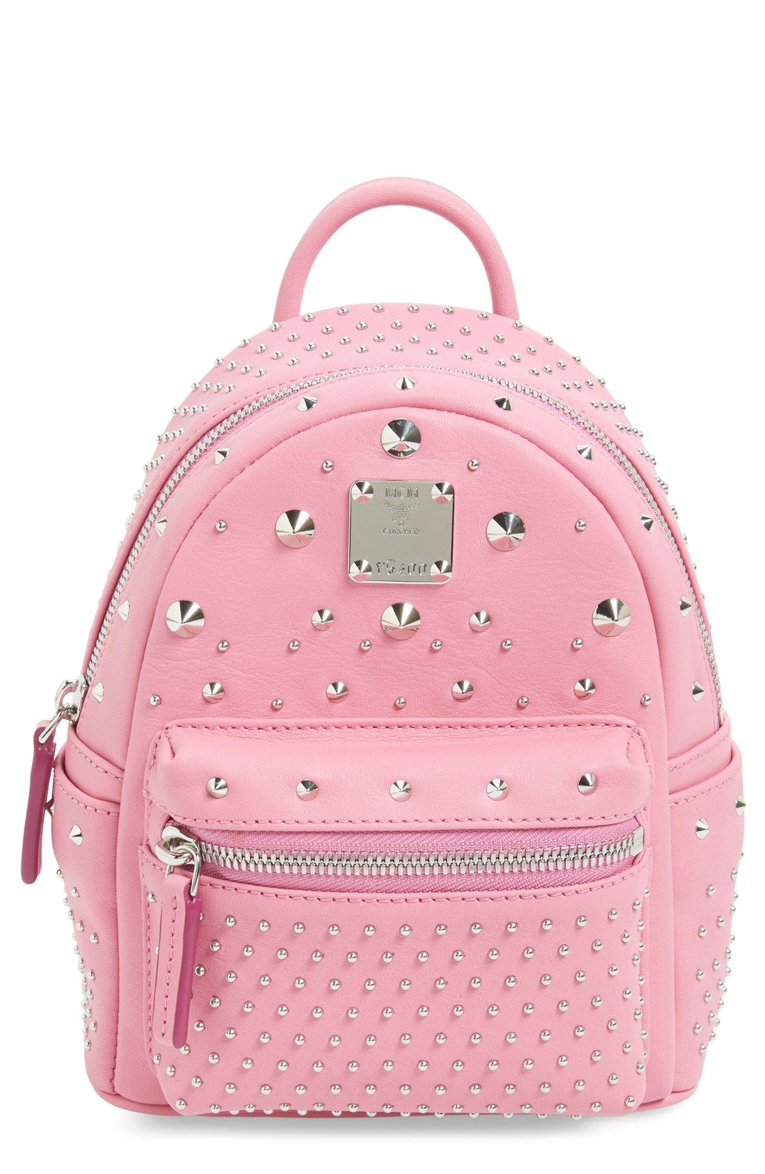 MCM 'X-Mini Stark - Bebe Boo' Studded Leather Backpack | Nordstrom
