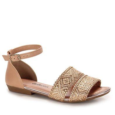 80b0d6d88 Sandália Rasteira Feminina Dakota - Cobre | Sapatos | Rasteiras ...