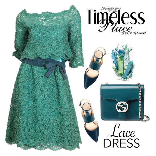 """""""Lace Dress"""" by ana-angela ❤ liked on Polyvore featuring Christian Dior, Kenneth Cole, Gucci and lacedress"""