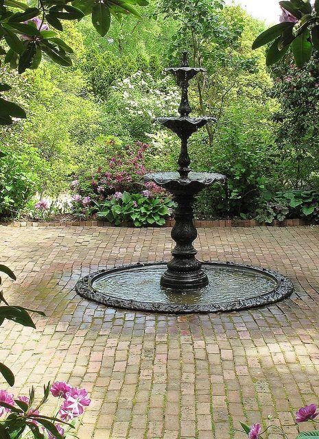 Ladew Garden Victorian Garden Fountain Fountain, Victorian gardens